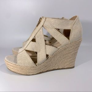 3 FOR $20  A New Day Metallic Thread Cream Wedges